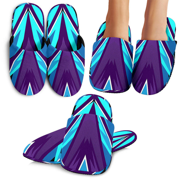 Racing Style Violet & Light Blue Vibes Slippers