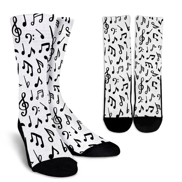 Music Notes Lovers Crew Socks