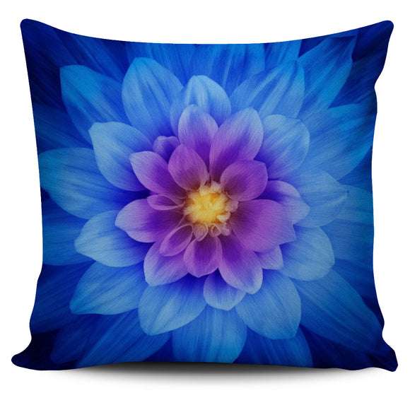 Big Blue Floral Dream Pillow Cover