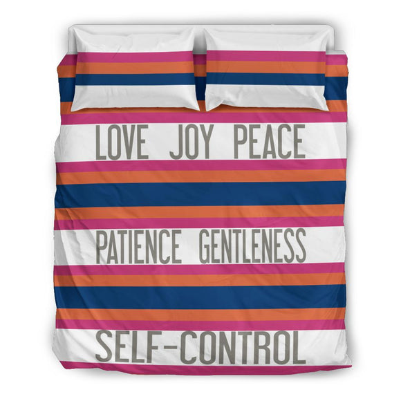 Love Joy Peace - Patience Gentleness - Self-Control Special Bedding Set