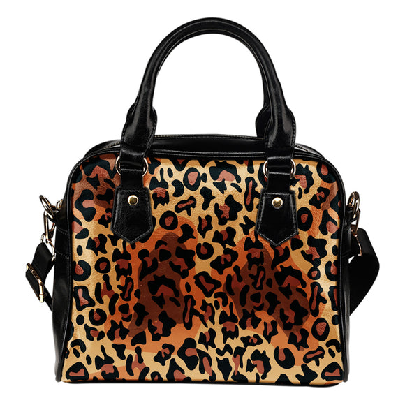 Leopard Pop Art Shoulder Handbag