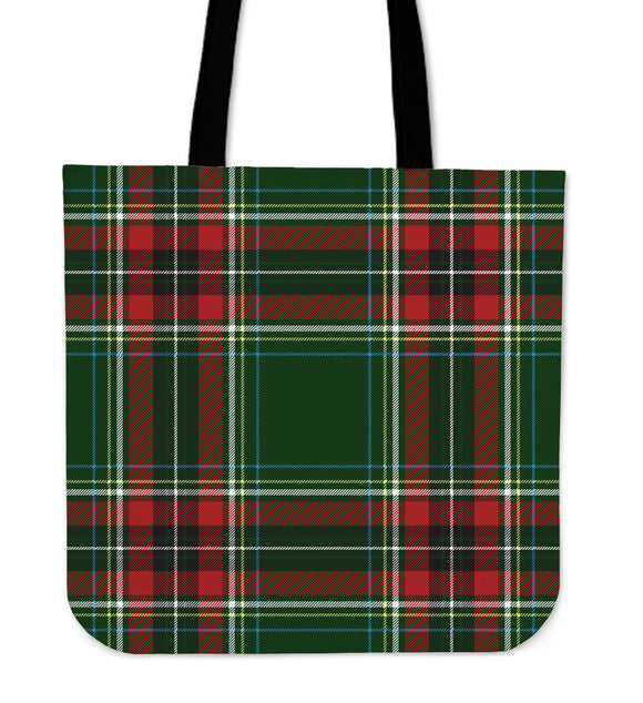Christmas Green Good Vibes Only Cloth Tote Bag