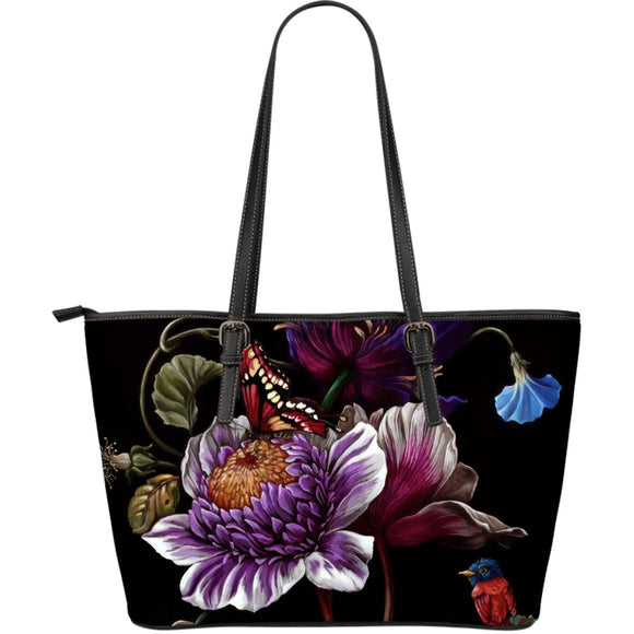 Ayriana Blue Flower Miracle Leather Tote Bag