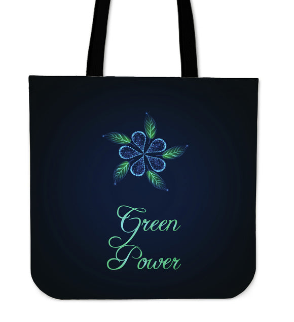 Green Power Cloth Tote Bag