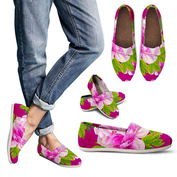 Pink Peony Lovers Women's Casual Shoes