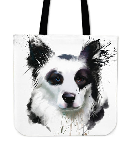 Border Collie Lovely Dog Cloth Tote Bag