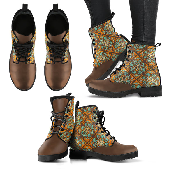 Brown Bohemian Pure Mandala Handcrafted Boots