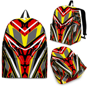 Racing Style Wild Red & Grey Vibes Backpack