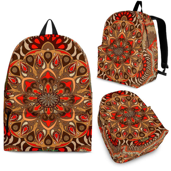 Beautiful Vibes Mandala Design Three Backpack