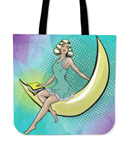 Pop Art Goodnight Romance Cloth Tote Bag