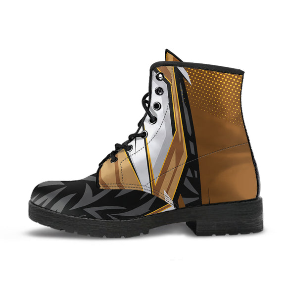 Racing Style Black & Brown 4 Unisex Leather Boots