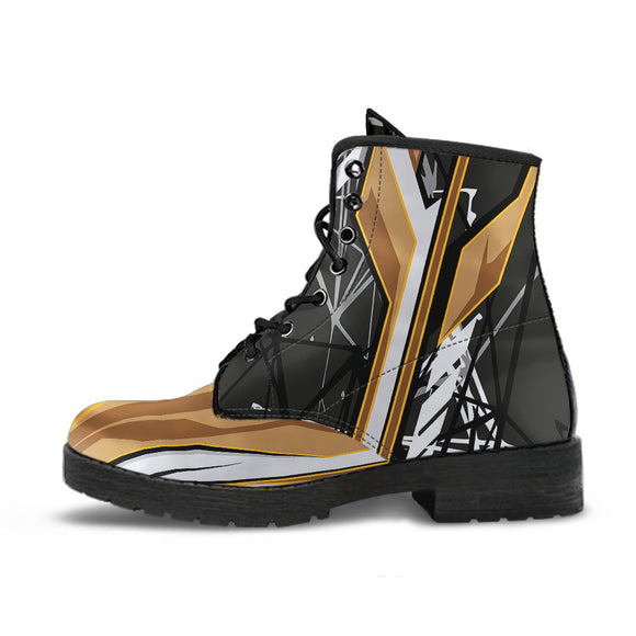 Racing Style Black & Brown 1 Unisex Leather Boots