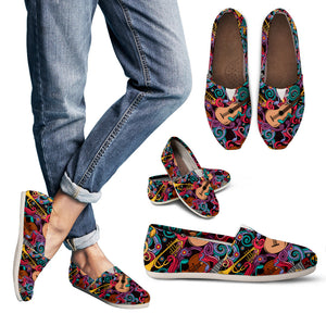 Music Funny Instruments Women's Casual Shoes