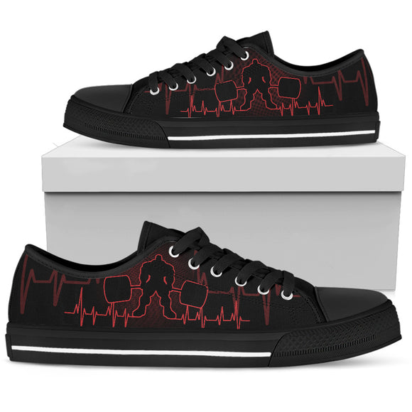 Barbell Red Men's Low Top Shoes