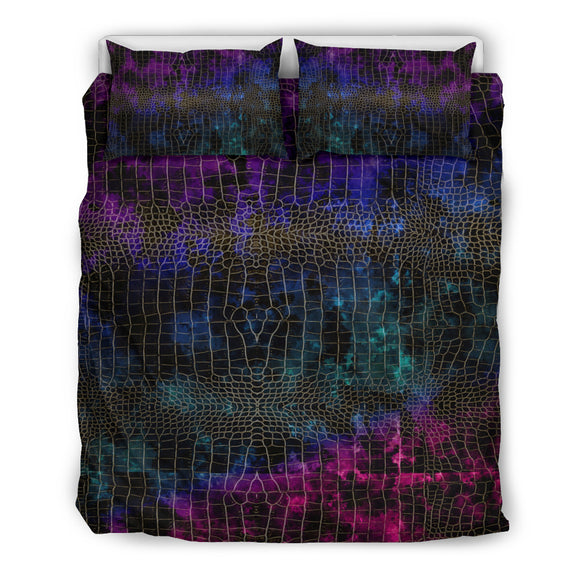 Party Colors Snake Skin Design Bedding Set