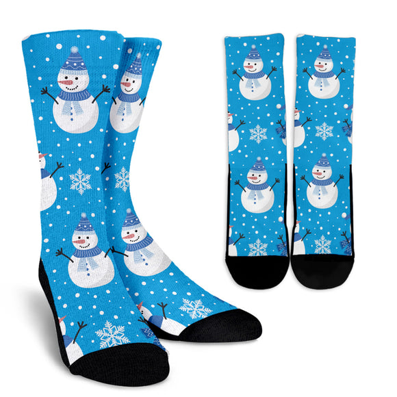 Christmas Perfect Blue Good Vibes Only Crew Socks