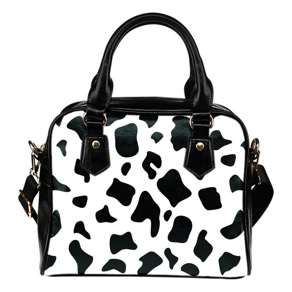 Cow Pop Art Shoulder Handbag