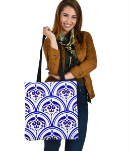 Amazing Traditional White & Blue Ornaments Vibes Two Cloth Tote Bag