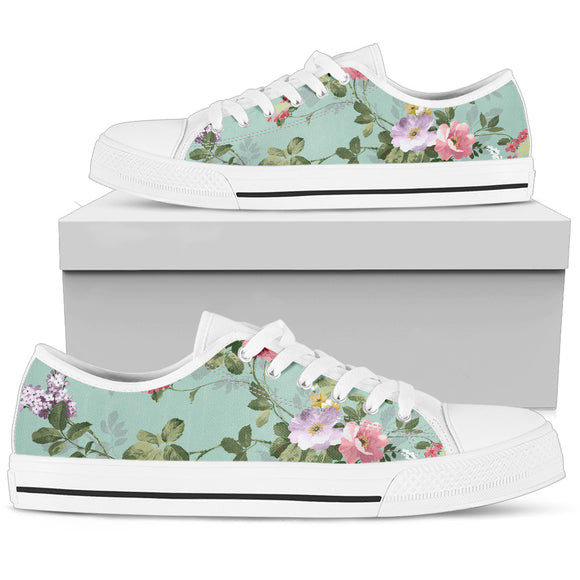 Beautiful Green Spring Low Top Shoes
