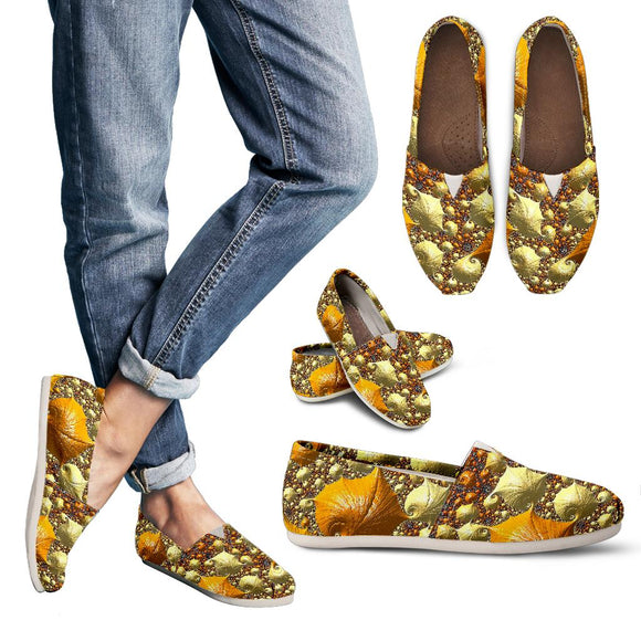 Psychedelic Gold Women's Casual Shoes