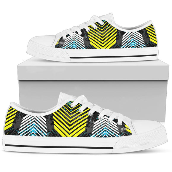 Racing Style Blue & White Stripes Vibes Low Top Shoe