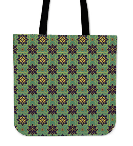 Ornamental Floral Luxury Cloth Tote Bag
