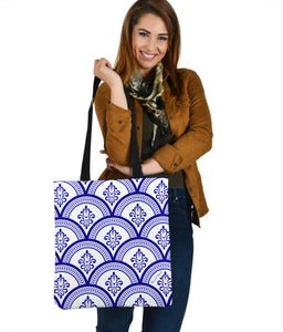 Amazing Traditional White & Blue Ornaments Vibes One Cloth Tote Bag