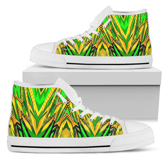 Racing Brazil Style Green & Yellow Vibes High Top Shoes