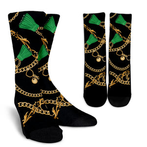Luxury Chain Crew Socks