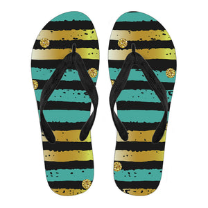 Luxury Neon Strips Men's Flip Flops
