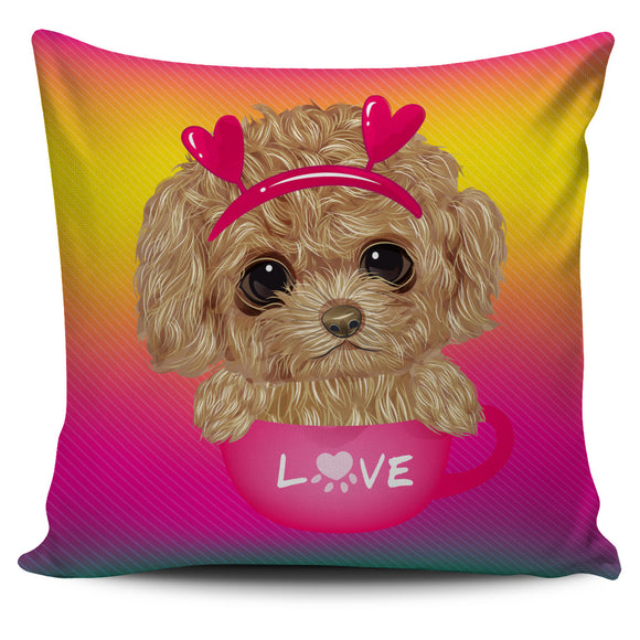 Cute Sweet Little Puppy Pillow Cover