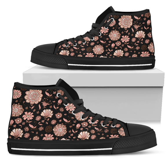 Flowery Modern Style Women's High Top Shoes