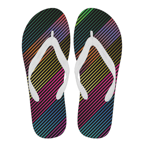 Party Lights On Women's Flip Flops