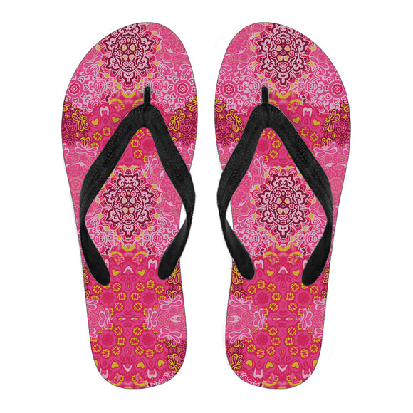 Beautiful Boho Pink Mandala Women's Flip Flops
