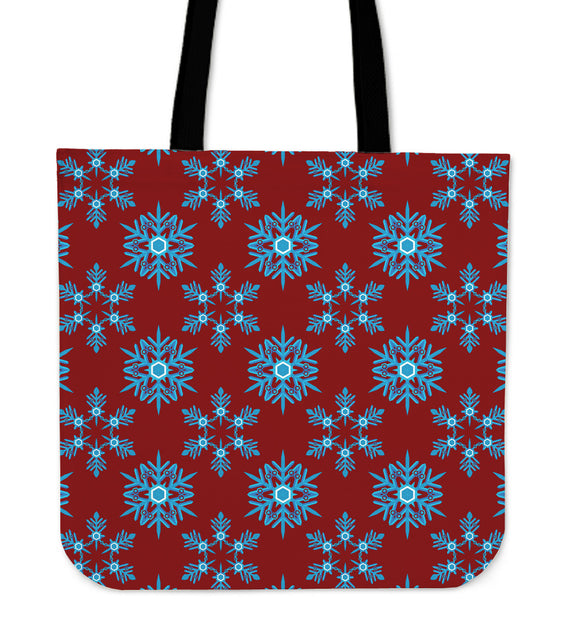 Christmas Lovely Blue Good Vibes Only Cloth Tote Bag