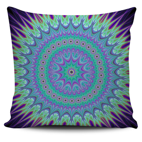 Luxury Psychedelic Purple Pillow Cover