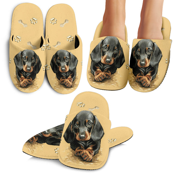 Lovely Dachshund Slippers