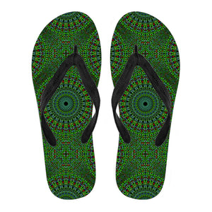 Oriental Green Love Women's Flip Flops