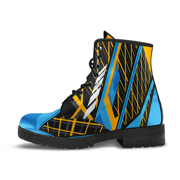 Racing Style Orange & Blue 1 Unisex Leather Boots