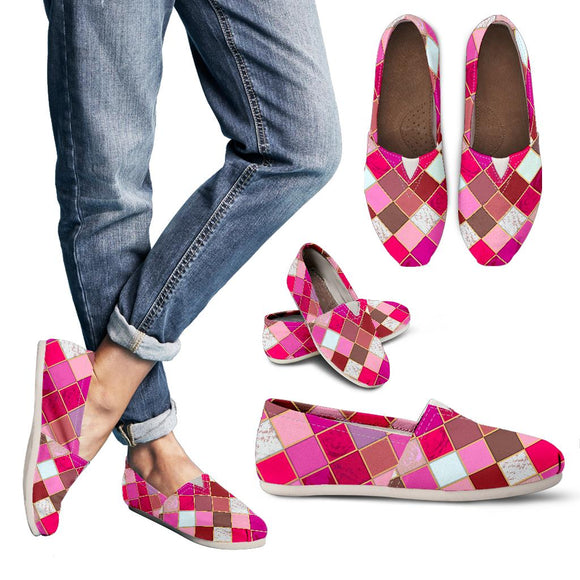 Pink Tiles Magical World Women's Casual Shoes