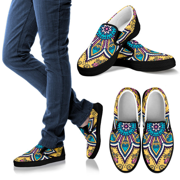 Lovely Boho Mandala Vol. 3 Women's Slip Ons