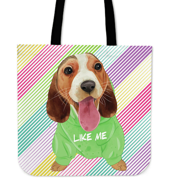 Cute Like Me Puppy Cloth Tote Bag