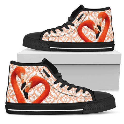 Flamingo Flock Women's High Top Shoes