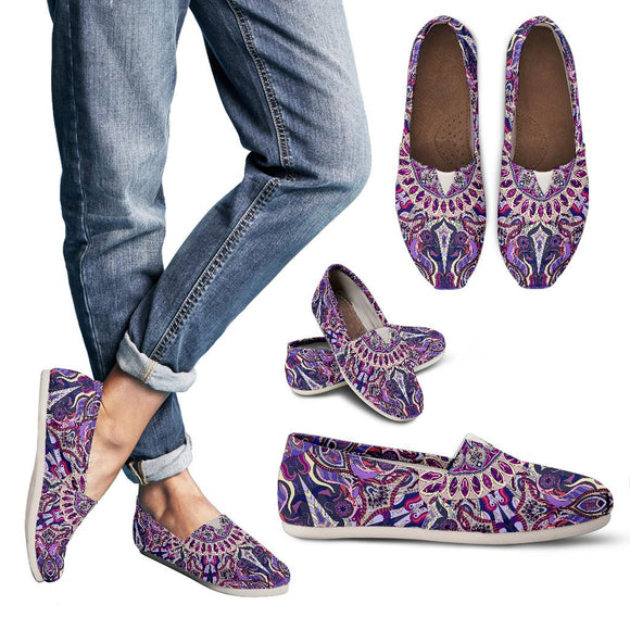 Ornamental Magical Purple Women's Casual Shoes