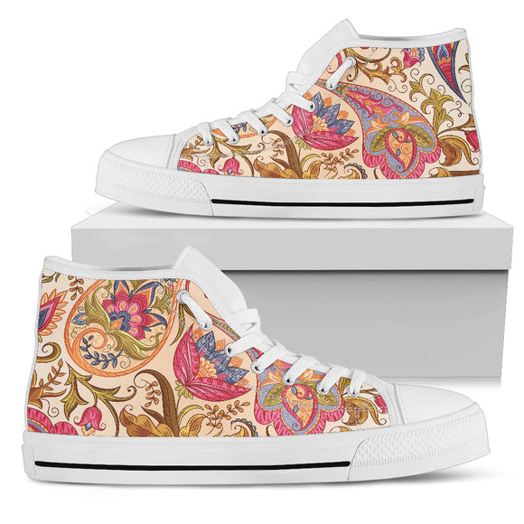 Royal Paisley Women's High Top Shoes