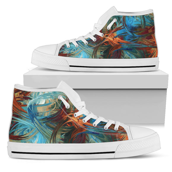 Blue Mystical Spirit High Top Shoes