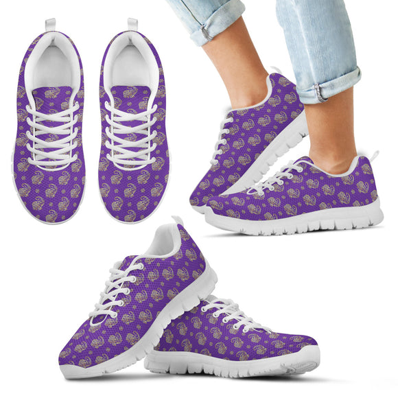 Lucky Purple Elephant Kid's Sneakers