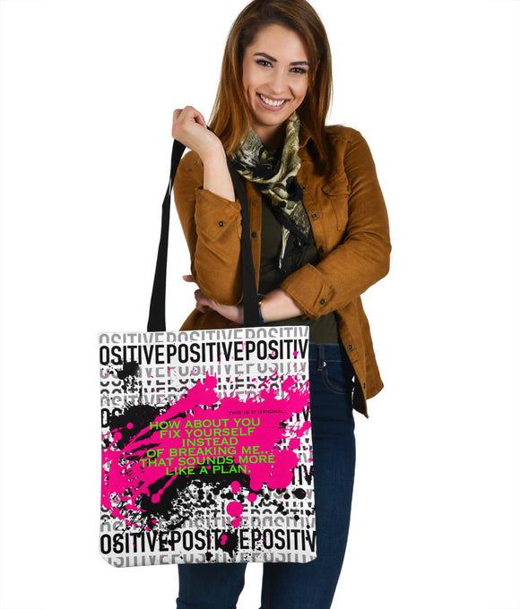 Fix yourself on Positive design Perfect Cloth Tote Bag