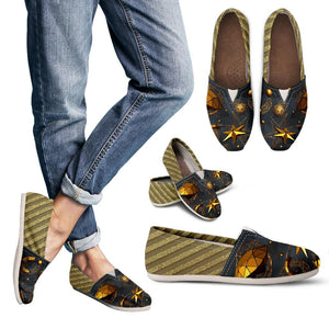 Diamond And Golden Stars Women's Casual Shoes