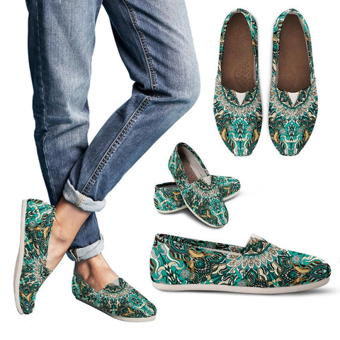 Ornamental Magical Green Dream Women's Casual Shoes